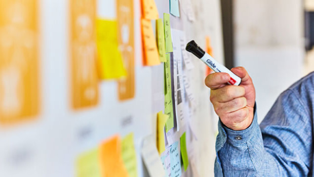 design thinking and brainstorming on ideas