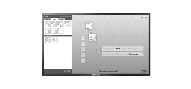 interface design on an desktop screen