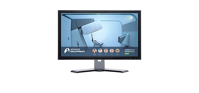 computer screen with focus points
