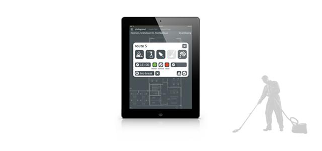interface design on an iPad